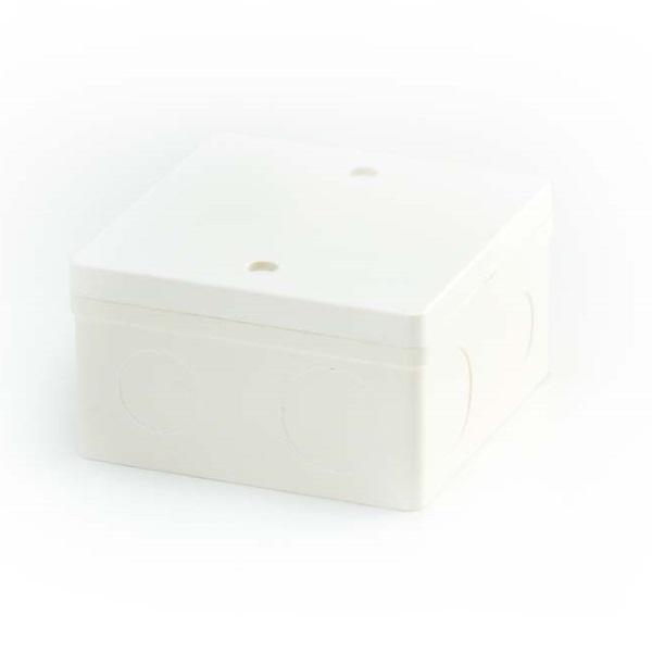 ข้อต่อตัวกล่องสี่เหลี่ยมลึกฝั่ง 4x4 พีวีซีเอสซีจี ระบบร้อยสายไฟสีขาว(มาตรฐาน BS)