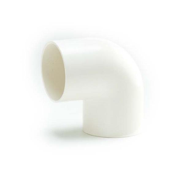 ข้อต่อข้องอ90 พีวีซี เอสซีจี ระบบร้อยสายไฟ สีขาว (มาตรฐาน BS)