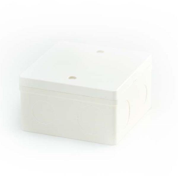 ข้อต่อตัวกล่องสี่เหลี่ยม 4x4 พีวีซี เอสซีจี ระบบร้อยสายไฟ สีขาว (มาตรฐาน BS)