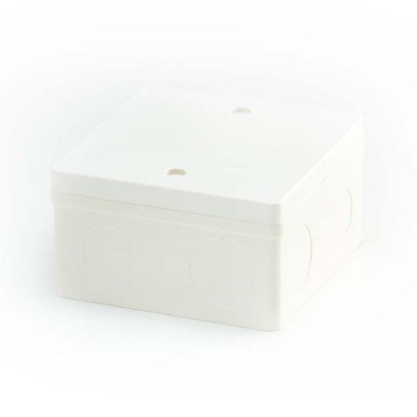ข้อต่อตัวกล่องสี่เหลี่ยมหนา 4x4 พีวีซี เอสซีจี ระบบร้อยสายไฟ สีขาว (มาตรฐาน BS)