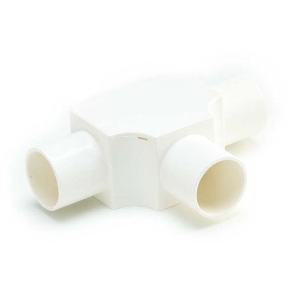 ข้อต่อสามทางฝาเปิด พีวีซี เอสซีจี ระบบร้อยสายไฟ สีขาว (มาตรฐาน BS)