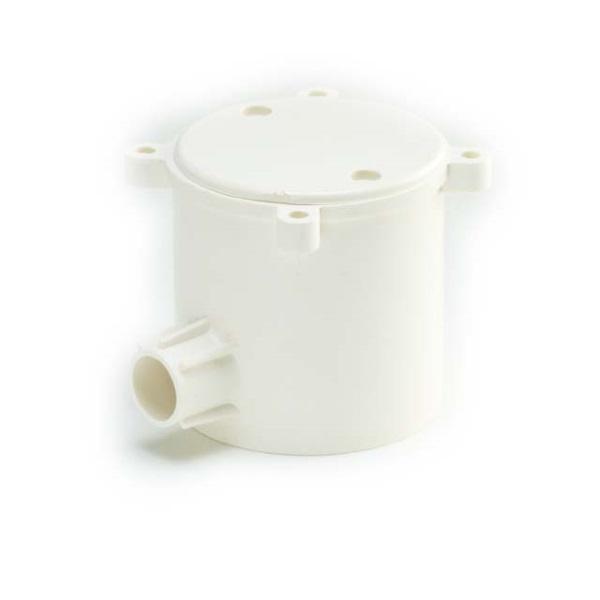 ข้อต่อกล่องพักสายกลมลึก 1ทาง พีวีซี เอสซีจี ระบบร้อยสายไฟสีขาว(มาตรฐาน BS)