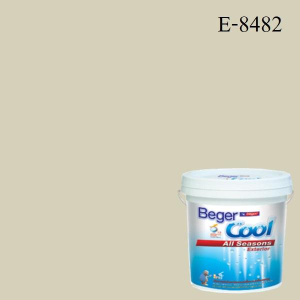 สีน้ำอะครีลิกภายนอก E-8482 Beger Cool All Seasons SSR Sand Castle