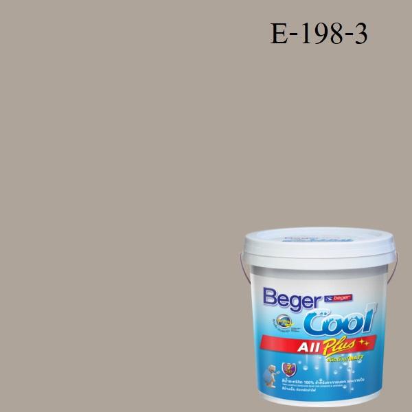 สีน้ำอะครีลิกภายนอก E198-3 Beger Cool All Plus Baked Clay