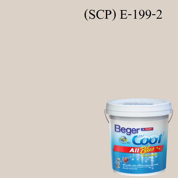 Beger Cool All Plus สีน้ำอะครีลิก ภายนอก (SCP) E-199-2