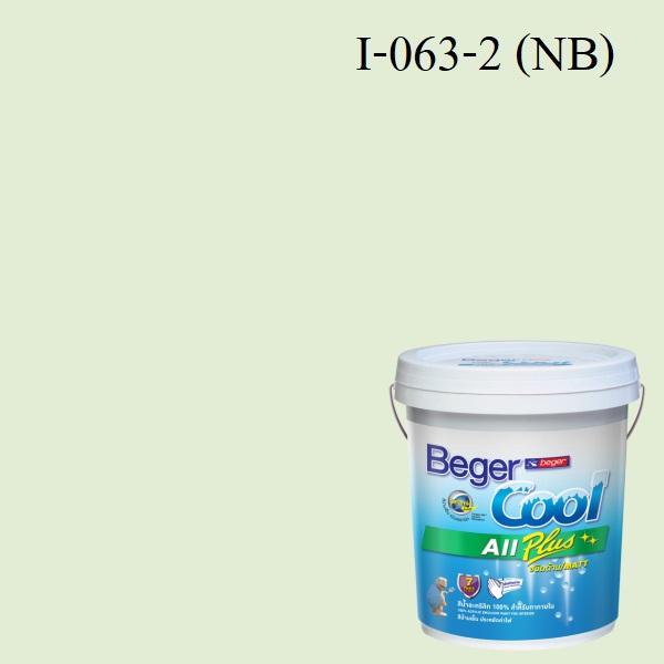 สีน้ำอะครีลิกภายใน I-063-2 NB Beger Cool All Plus Glimpse of Green
