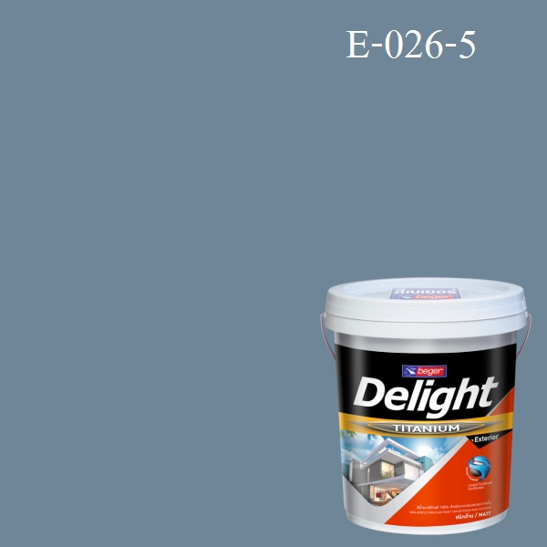 สีน้ำอะครีลิก ภายนอก E-026-5 ดีไลท์ Seaside Reflections