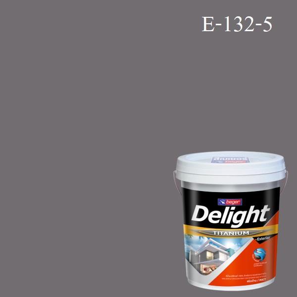 ดีไลท์ สีน้ำอะครีลิก ภายนอก E-132-5 (Grecian Grey)
