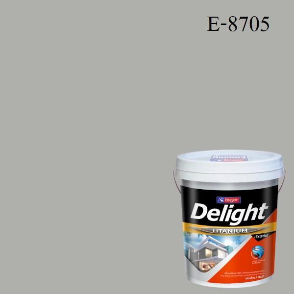ดีไลท์ สีน้ำอะครีลิก ภายนอก E-8705 (Pewter)
