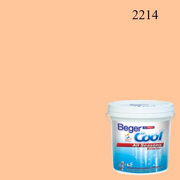 สีน้ำอะครีลิกภายนอก 2214 Beger Cool All Seasons Tangarine