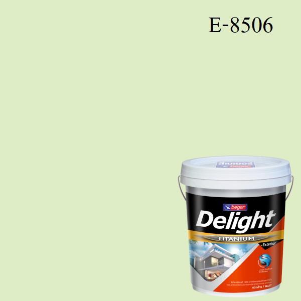 สีน้ำอะครีลิก ภายนอก E-8506 ดีไลท์ Apple White