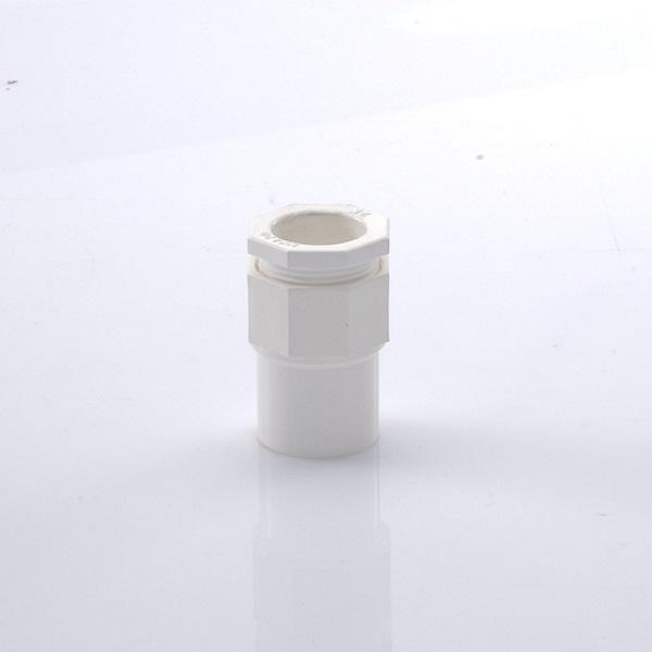 ข้อต่อเข้ากล่อง พีวีซี เอสซีจี ระบบร้อยสายไฟ สีขาว (มาตรฐาน JIS)