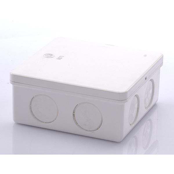 ข้อต่อกล่องพักสายสี่เหลี่ยม 4X4 พีวีซี เอสซีจี ระบบร้อยสายไฟ สีขาว (มาตรฐาน JIS)