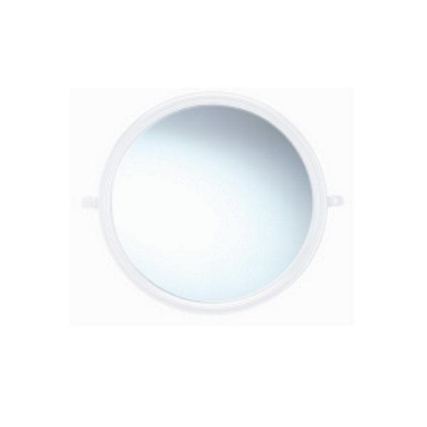 กระจกกรอบพลาสติก สีขาว ทรงกลม PM92
