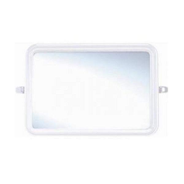กระจกกรอบพลาสติก สีขาว ทรงเหลี่ยม PM91