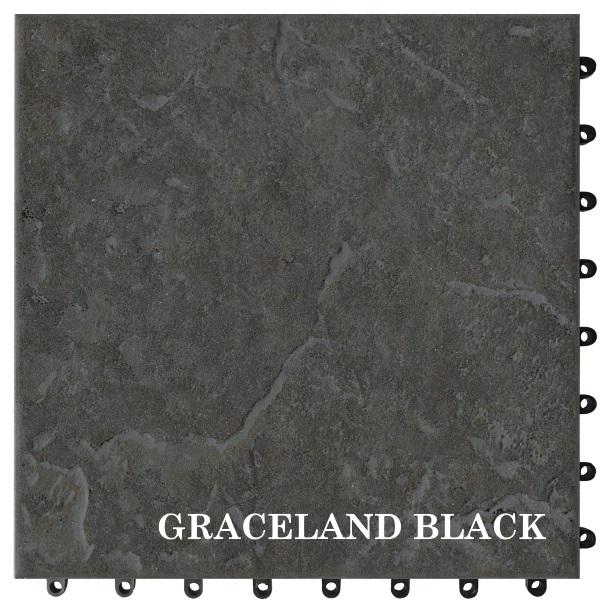 GRACELAND BLACK 30x30 Cotto Quick
