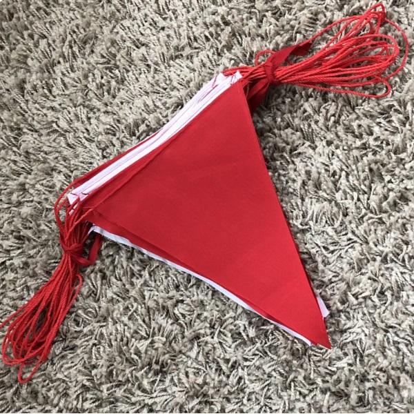 ธงราวขาว-แดง ผ้าโทเร ยาว 15เมตร