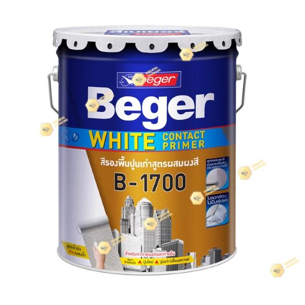 เบเยอร์ สีรองพื้นปูนเก่า B-1700 ไวท์ คอนแทค ไพรเมอร์-5gl