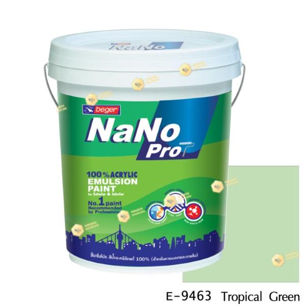 นาโนโปร สีน้ำอะคริลิก E-9463 สีน้ำด้านภายนอก-5gl