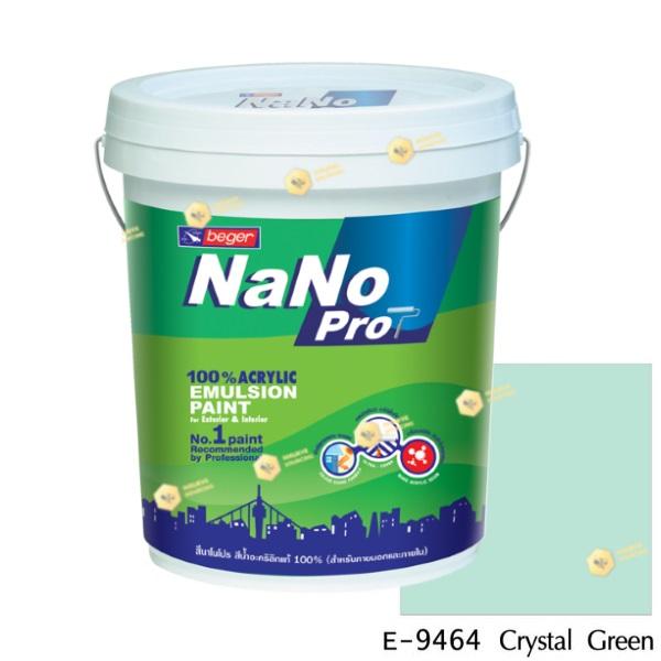 นาโนโปร สีน้ำอะคริลิก E-9464 สีน้ำด้านภายนอก-5gl