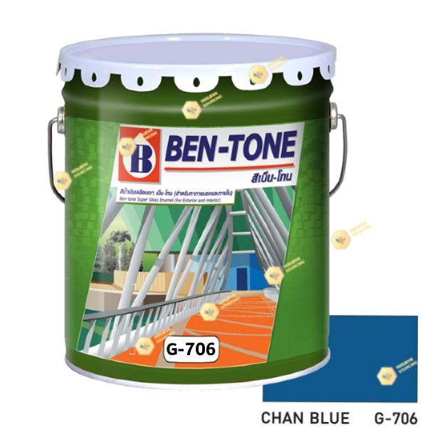 เบนโทน เบเยอร์ G-706 Chan Blue สีเคลือบเงา 5gl
