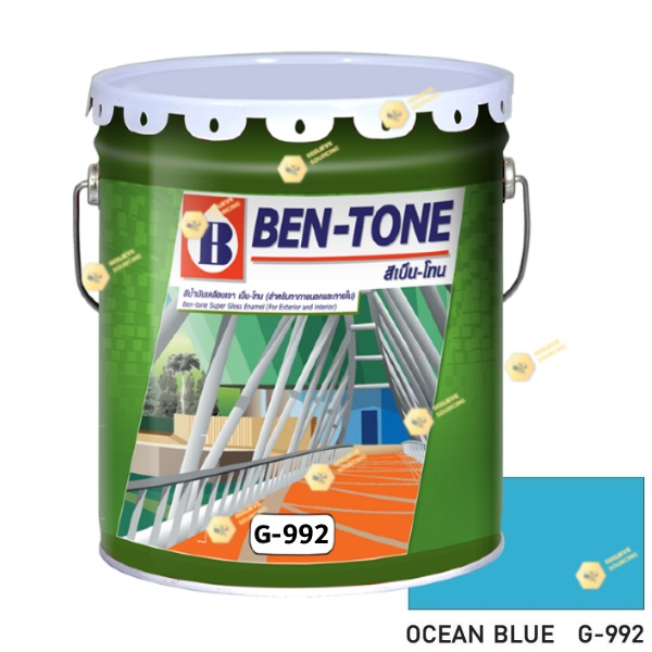 เบนโทน เบเยอร์ G-992 Ocean Blue สีเคลือบเงา 5gl