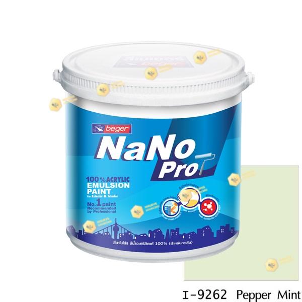 นาโนโปร สีน้ำอะคริลิก I-9262 สีน้ำด้านภายใน-1gl