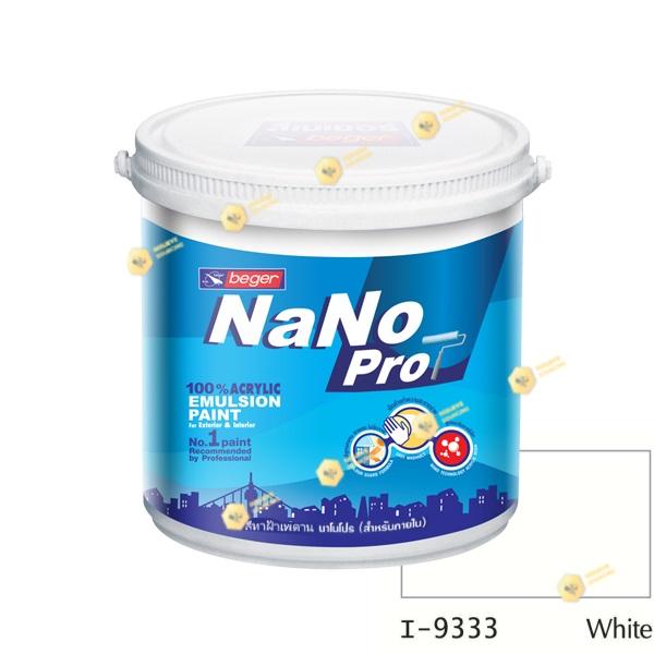 นาโนโปร สีทาฝ้าเพดาน I-9333 สีน้ำด้าน-ภายใน-1gl