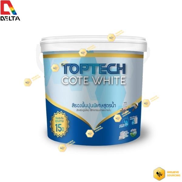 DELTA TOPTECH COTE WHITE สีเดลต้า ท็อปเทค โค้ด ไวท์(3.6 ลิตร)