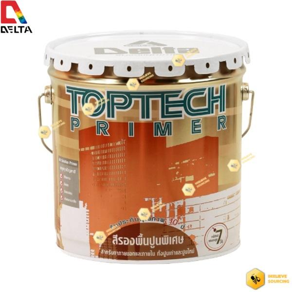 DELTA TOPTECH PRIMER สีเดลต้า ท็อปเทค ไพร์เมอร์ สูตรน้ำมัน-15 ลิตร