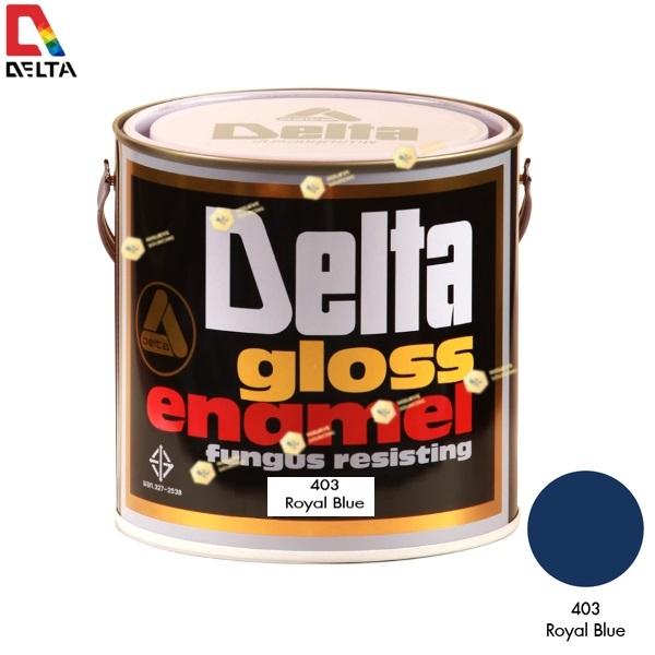 สีเคลือบน้ำมัน DELAT GLOSS ENAMEL #403 Royal Blue-1GL.