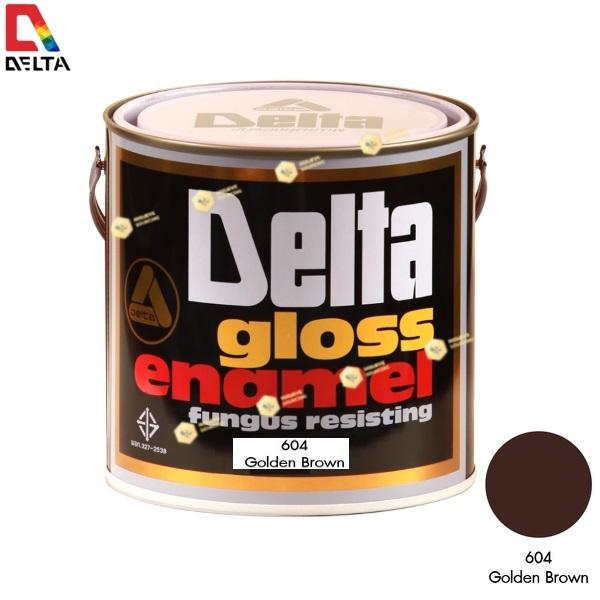สีเคลือบน้ำมัน DELAT GLOSS ENAMEL #604 Goden Brown-1GL.