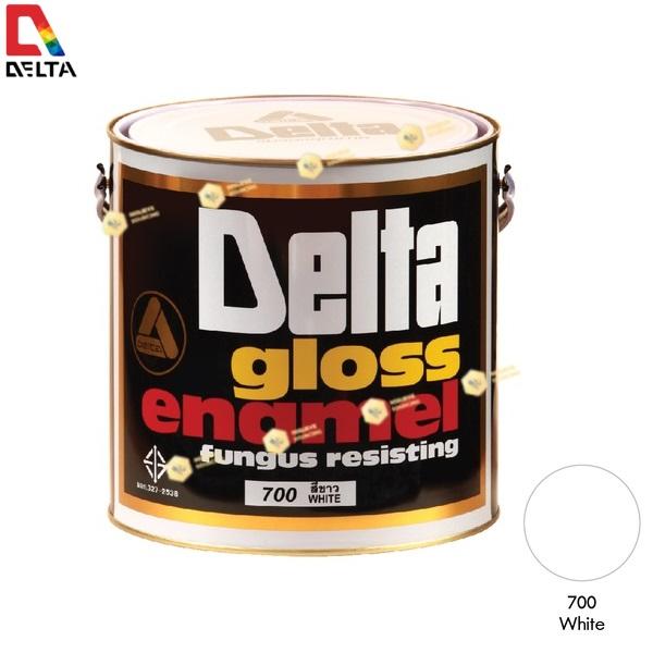 สีเคลือบน้ำมัน DELAT GLOSS ENAMEL #700 White-1GL.