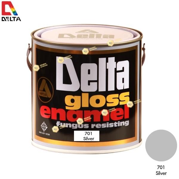 สีเคลือบน้ำมัน DELAT GLOSS ENAMEL #701 Silver-1GL.