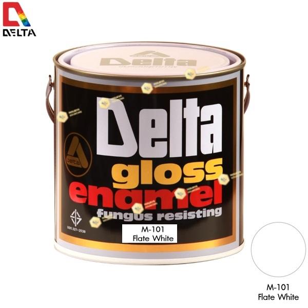 สีเคลือบน้ำมันชนิดด้าน DELAT GLOSS ENAMEL #M101 Flat White-1GL.
