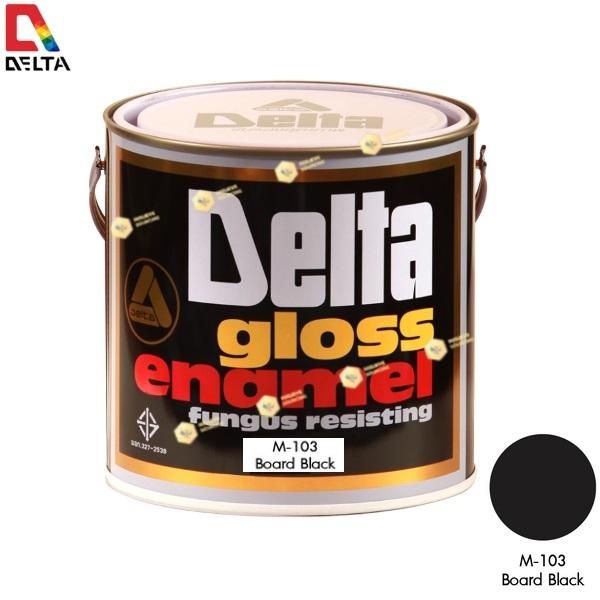 สีเคลือบน้ำมันชนิดด้าน DELAT GLOSS ENAMEL #M103 Board Black-1GL.