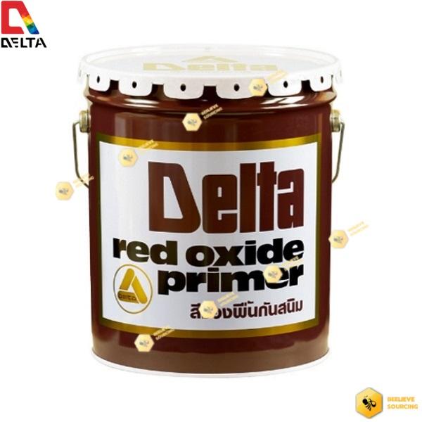 DELTA RED OXIDE PRIMER เดลต้า เรด ออกไซด์ สีรองพื้นกันสนิมแดง-5gl.