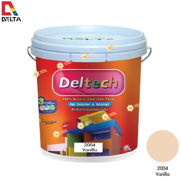 DELTECH สีน้ำอะครีลิคแท้ภายนอก เดลเทค #2004 Vanilla-5GL.