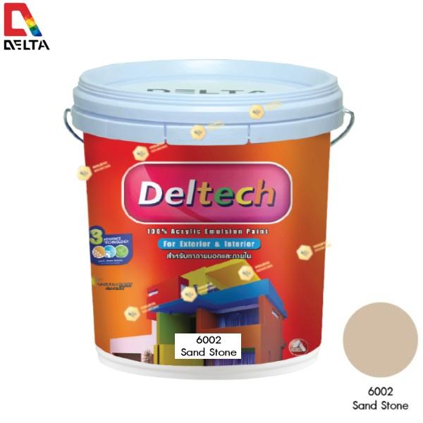DELTECH สีน้ำอะครีลิคแท้ภายนอก เดลเทค #6002 Sand Stone-5GL.