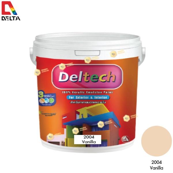 DELTECH สีน้ำอะครีลิคแท้ภายนอก เดลเทค #2004 Vanilla-1GL.