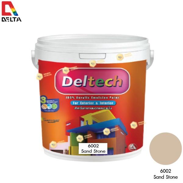 DELTECH สีน้ำอะครีลิคแท้ภายนอก เดลเทค #6002 Sand Stone-1GL.