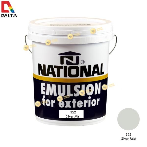 สีน้ำอะครีลิคภายนอก NATIONAL #352 Silver Mist-5GL.