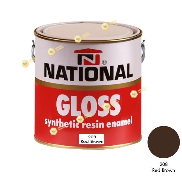 สีเคลือบน้ำมัน NATIONAL GLOSS #208 Red Brown-1GL.