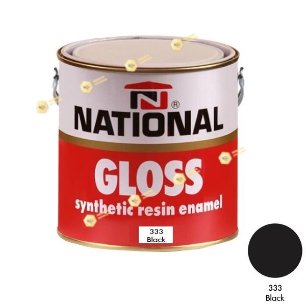 สีเคลือบน้ำมัน NATIONAL GLOSS #333 Black-1GL.