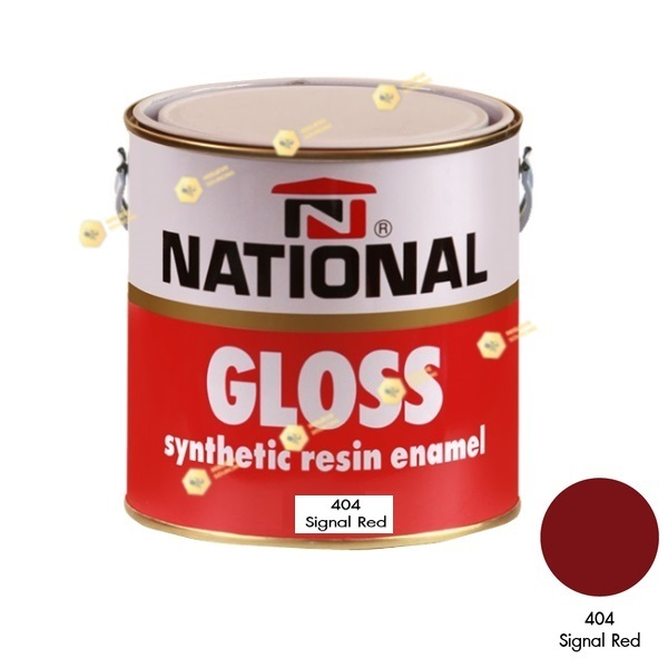 สีเคลือบน้ำมัน NATIONAL GLOSS #404 Signal Red-1GL.