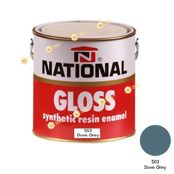 สีเคลือบน้ำมัน NATIONAL GLOSS #503 Dove Grey-1GL.