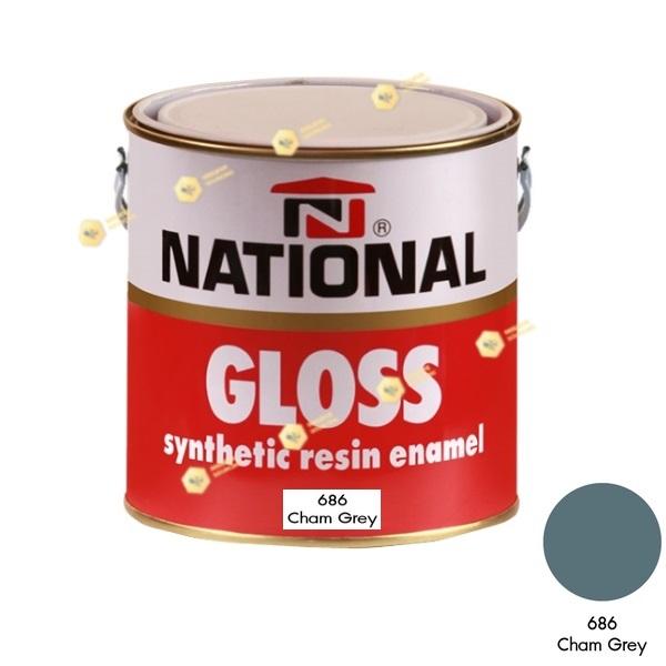 สีเคลือบน้ำมัน NATIONAL GLOSS #686 Charm Grey-1GL.