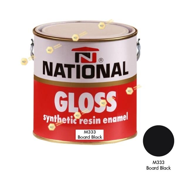 สีเคลือบน้ำมันชนิดด้าน NATIONAL GLOSS #M333 Board Black-1GL.