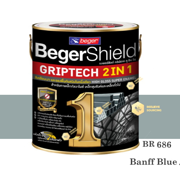 BegerShield Griptech 2in1-BR686 สีเคลือบเงา