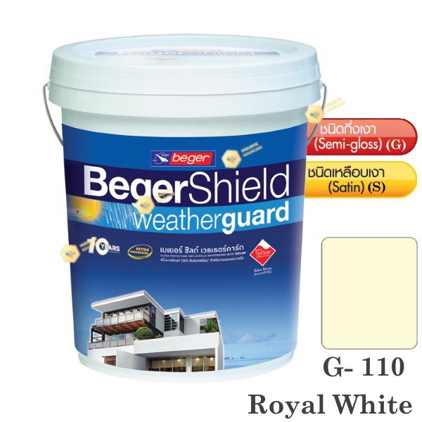 Beger Shield G-110 สีน้ำอะคริลิก-กึ่งเงา-5gl.